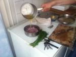 Matjes rödlök smält smör med dill